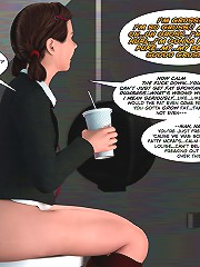 Gorgeous 3d cartoons with a hot cock-riding pregnant