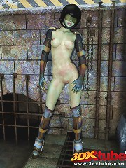 Post apocalyptic mutant ladies posing nude for your pleasure